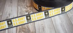 "1"" U.S. Army ribbon - Army strong - Army star - Black and gold - Be all you can be - Army Daddy - 3 or 5 yard lot - Military ribbon - DIY by Shaebugsupply on Etsy"