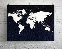 World Map Poster, World Map Art, World Map Print, World Map Space, World Map Decor, World Map Digital, World Map Download, Printable