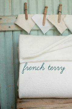Organic French Terry Half Yard  62 Inches  by worthygoodstextile, $12.00