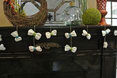 bowtie baby shower - diaper bowtie garland