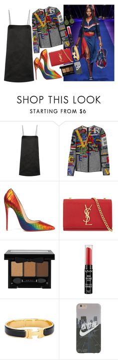"""""""VERSACE FASHION WEEK."""" by beydior ❤ liked on Polyvore featuring Versace, The Row, Christian Louboutin, Yves Saint Laurent, NYX, Hermès, YSL, versace, hermes and Louboutin"""