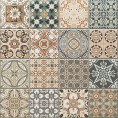Details zu OL Maalem Decor Matt Patchwork Marokkanisches Muster Feinsteinzeug - New bathroom ideas - Moroccan Pattern, Moroccan Tiles, Moroccan Decor, Patchwork Tiles, Tiles For Sale, Black Interior Doors, Mosaic Pieces, Vintage Tile, Retro Tile