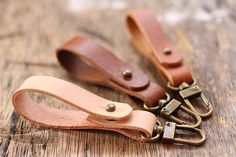 Personalized Custom Leather Keychain Leather Keyring