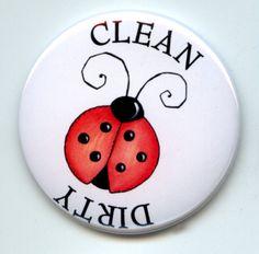 LADYBUG Entomology Dishwasher Clean/Dirty 225 large by Yesware