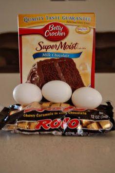 Grandma's Desserts: Rolo Cake Mix Cookies