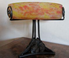 Antique FRENCH ART DECO table piece pate verre by ElflingAntiques
