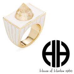 "🎉HP🎉 House of Harlow Glacier Cocktail Ring 7 Brand new with tags and in plastic. House of Harlow goldtone/white glacier cocktail ring. Size 7. Ring is just under 1.5"" from bottom of band to top of spike and 1"" wide. Retail value $81. Non smoking home! House of Harlow 1960 Jewelry Rings"