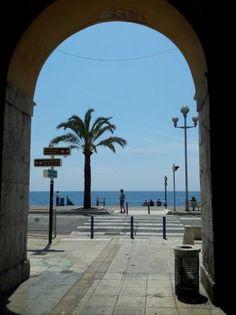 The beach in Nice, France