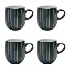 Denby Jet Stripes Large curve mug VALUE PACK - Tableking $182.99