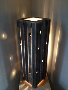 "Hand crafted! Rustic reclaimed wood lamp. 7 1/2"" x 25"" x 7 1/2"" 