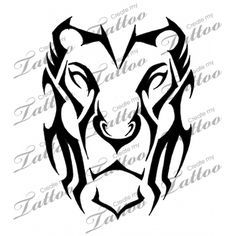 Marketplace Tattoo Lion Tribal #14476 | CreateMyTattoo.com