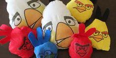 Homemade Angry Bird bean bags