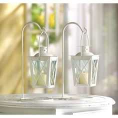 20 WHITE WEDDING LANTERN CENTERPIECES FAVORS NEW