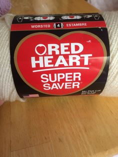 Red heart super saver aran worsted yarn by JumperKellyPhotos on Etsy