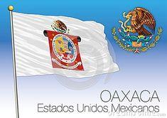 OAXACA regional flag, United Mexican States, Mexico, vector illustration