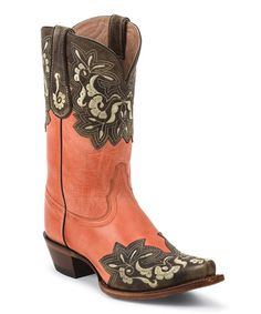Another great find on #zulily! Coral Tango Leather Cowboy Boot - Women by Tony Lama #zulilyfinds