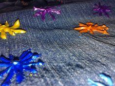 Short de jeans multicolor