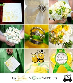 Im thinking yellow and green for my wedding, my two favorite colors!