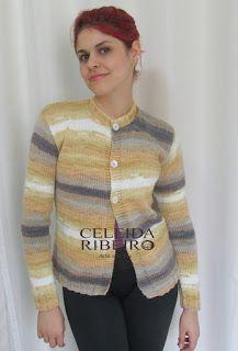 Celeida Ribeiro: Cardigan de tricô Batik!