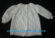 Depois de longa ausência em matéria de tricô,   eis que aparece um casaco para um bebé que irá nascer   em S. Miguel, daqui a 6 meses.   E...