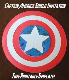 Captain America Shield Invitations Free Printable Template