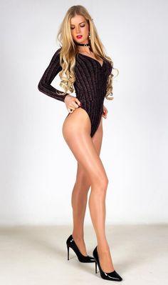 Chloe Rose, Beautiful Lingerie, T 4, Bodysuit, Legs, Black And White, Beauty, Dresses, Women