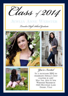 Moving On Photo Graduation Announcements