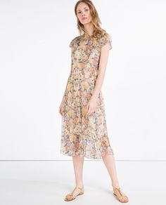 DRESS WITH LACE AND FRILL - View All - DRESSES - WOMAN   ZARA United States