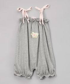 """Another great find on #zulily! Silver """"Lamb"""" Sleeveless Bubble Romper - Infant & Toddler #zulilyfinds"""