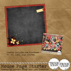 """Trixie Scraps Designs - Free Starter Page download that coordinates with our Disney-inspired """"Mr. & Mrs. Mouse"""" collection"""