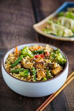 Ridiculously Easy Vegetable Fried Rice | FatFree Vegan Kitchen Vegan Dinner Recipes, Vegan Dinners, Vegan Recipes Easy, Rice Recipes, Appetizer Recipes, Whole Food Recipes, Vegetarian Recipes, Lunch Recipes, Asian Recipes