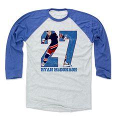 Ryan McDonagh Game B New York R Officially Licensed NHLPA Baseball T-Shirt Unisex S-3XL
