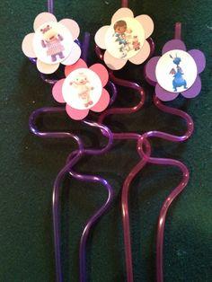 12 Doc Mcstuffins Birthday Party Krazy Straws by NottsAndBows, $12.00