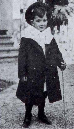 Salvador Dali in childhood, Barcelona, 1908.