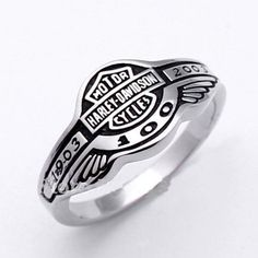 100th Anniversary Harley Davidson Stainless Steel Ring. Starting at $1 on Tophatter.com!