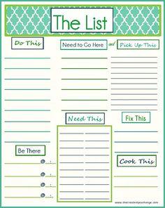 pretty to do list template