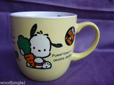 Vintage YELLOW SANRIO POCHACCO BUNNY RABBIT COFFEE MUG CUP PRE HELLOW KITTY