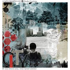 In the City by Jana Oliveira with Urban Sprawl from Courtney digital designs great art urban look designs and great for art journal and to tell your stories