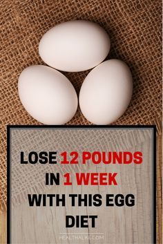Lose 12 Pounds in 1 Week With This Egg Diet