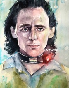Watercolor Portrait Painting, Watercolour, Loki Drawing, Marvel Villains, Drawings, Fictional Characters, Art, Pen And Wash, Art Background
