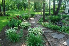 This path is my favorite spot in our shady garden (pic.#1). #shadegardenideas