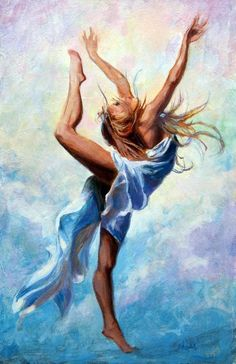 """A'Diva Brisbane Bellydance Collective: Inspiration from art - """"Dancing in the Clouds Eric Wallis"""""""