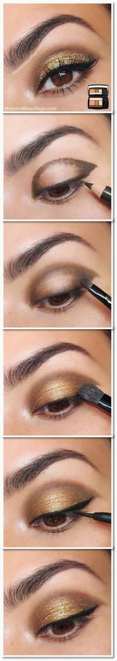 Gorgeous golds! Looks super easy too. Kimamely Xx.