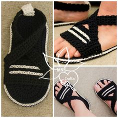 "The location where building and construction meets style, beaded crochet is the act of using beads to decorate crocheted products. ""Crochet"" is derived fro Crochet Sandals, Crochet Boots, Crochet Baby Booties, Crochet Slippers, Bead Crochet, Love Crochet, Crochet Clothes, Crochet Lace, Crochet Leg Warmers"