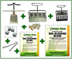 8-PC. 'MASTER GROWER' SOIL BLOCKING SET: Deluxe Ladbrooke 'Nesting Set' Includes 4Qt. Micro and 8Qt Premium Soil Blocking Blends ** You can find out more details at the link of the image.
