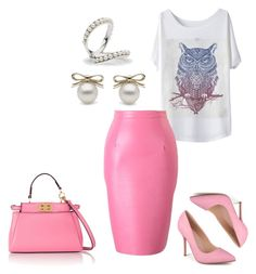 Untitled #618 by adancetovic on Polyvore featuring Journee Collection, Fendi, pearljewelry and littlehjewelry