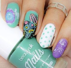 WEBSTA @ beautyuk - Fabulous skills once more by ✨🌟 Forest Jade Cosmetic World, Cosmetics & Perfume, Dope Nails, Beauty Uk, Nail Tutorials, Jade, Nail Polish, Glitter, Manicure