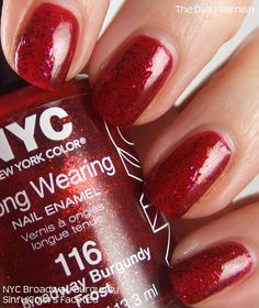 NYC Broadway Burgundy & SinfulColors Faceted