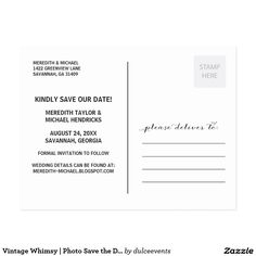 Vertical Save The Date Postcard Template Pinterest Postcard - Vertical postcard template
