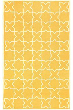 Moroccan Area Rug - New Town Collection - hand tufted synthetic rug with plush pile, available in yellow, navy, and red - HomeDec.